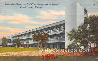 Memorial Classroom Building, University of Miami