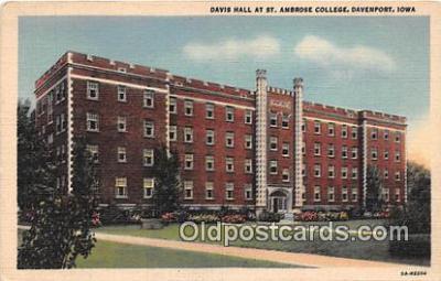 cau001095 - College Vintage Postcard