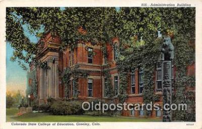 cau001100 - College Vintage Postcard