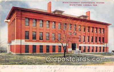 cau001103 - College Vintage Postcard
