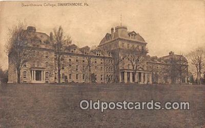 cau001104 - College Vintage Postcard