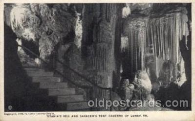 cav001022 - Luray Viginia, VA, USA Cave Caves Post Card Postcard