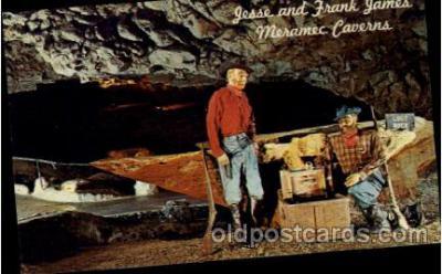 cav001033 - Jesse & Frank James, Meramec Caverns, US 66 Stanton, Missouri, MO, USA Cave Caves Post Card Postcard