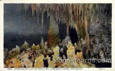 cav001045 - Cliff on Texas Trail, Carlsbad Caverns, National Park, New Mexico, NM USA Cave Caves Post Card Postcard