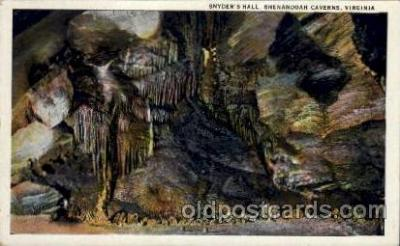 cav001046 - Snyder's Hall, Shenandoah Caverns, Virginia, VA, USA Cave Caves Post Card Postcard
