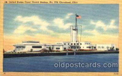 cgs001001 - United States Coast Guard Station No 219 Cleveland, Ohio, USA Postcard Post Cards Old Vintage Antique