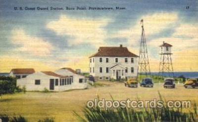 cgs001003 - US Coast Guard Station, Race Point Porovincetown, Mass, USA Postcard Post Cards Old Vintage Antique