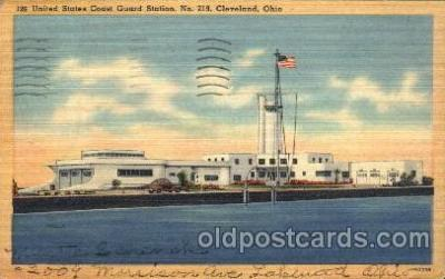 cgs001006 - United States Coast Guard Station No 219 Cleveland, Ohio, USA Postcard Post Cards Old Vintage Antique