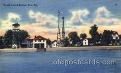 cgs001008 - Coast Guard Station Erie, Pa, USA Postcard Post Cards Old Vintage Antique