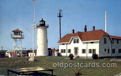 cgs001011 - Chatham Light & Coast Guard Station Cape Cod, Mass, USA Postcard Post Cards Old Vintage Antique