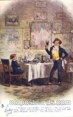 chd001004 - David Copperfield, Chapter v, Phiz Charles Dickens Postcard Post Card