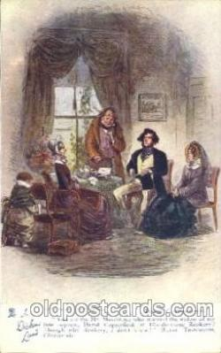 chd001005 - David Copperfield, Chapter xiv, Phiz Charles Dickens Postcard Post Card