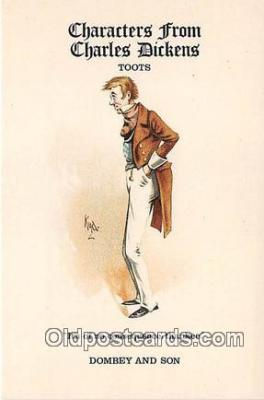 chd100004 - Reproductions - Characters from Charles Dickens Toots, Dombey & Son Postcard Post Card