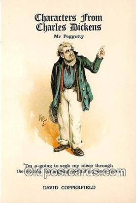 chd100014 - Reproductions - Characters from Charles Dickens Mr Peggotty, David Copperfield Postcard Post Card