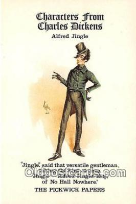 chd100027 - Reproductions - Characters from Charles Dickens Alfred Jingle, Pickwick Papers Postcard Post Card