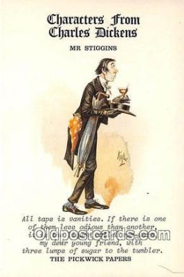 chd100029 - Reproductions - Characters from Charles Dickens Mr Stiggins, Pickwick Papers Postcard Post Card