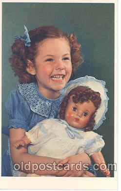 chi001003 - Child Children with Doll Dolls Postcard Post Card