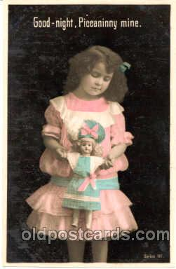 chi001017 - Child Children with Doll Dolls Postcard Post Card