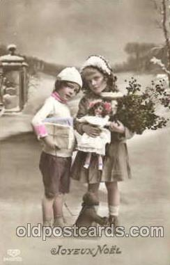 chi001080 - Children with Doll Postcard Post Card