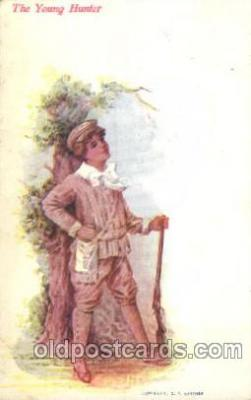 chi002102 - The Young Hunter Children, Child, Postcard Post Card