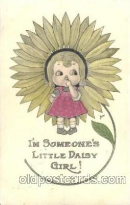 chi002132 - Sunflower Girl Children, Child, Postcard Post Card