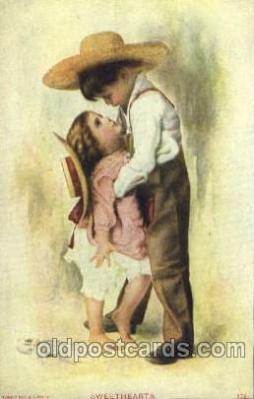 chi002145 - Sweethearts Children, Child, Postcard Post Card