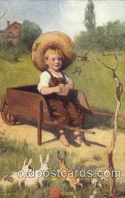 chi002166 - The Miser Children, Child, Postcard Post Card