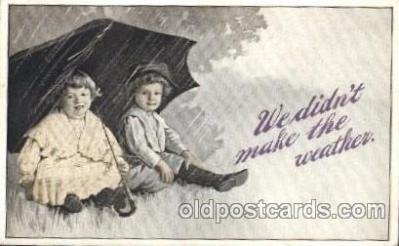 chi002213 - We didn't make the weather Children, Child, Postcard Post Card