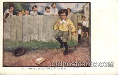 chi002223 - All things are not what they seem Children, Child, Postcard Post Card