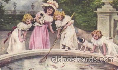chi002234 - Fishing Children, Child, Postcard Post Card