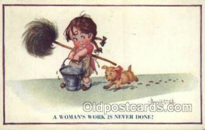 chi002363 - Artist Donald McGill Children Child Old Vintage Antique Post Card Post Card
