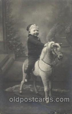 chi003057 - Child, Children with Rocking Horse Postcard Post Card