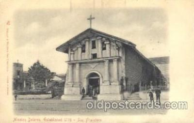 chr001003 - Mission Dolores, San Francisco, California USA Church Churches Postcard Post Card