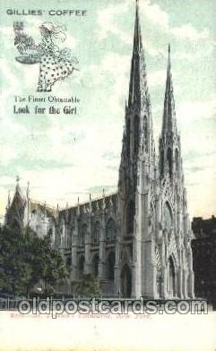 chr001007 - St' Patrick's Cathedral, New York, N.Y., USA Church Churches Postcard Post Card