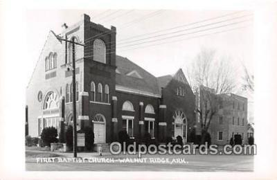 Real Photo - First Baptist Church