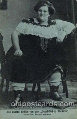 cir004109 - Gemutlichen Sachsin, Heaviest Person Postcard Post Card