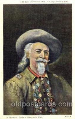 cir005092 - Colonel W.F. Cody, Buffalo Bill, Barnum & Bailey Circus, Postcard Post Card