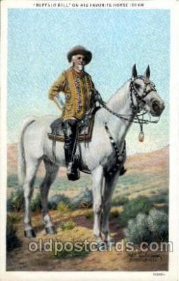 cir005101 - Circus Buffalo Bill Postcard Post Card