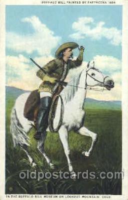 cir005174 - Buffalo Bill on Lookout Mountain, Colorado USA Post Card Postcard Old Vintage Antique