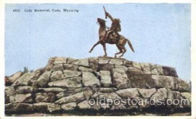cir005182 - Cody Memorial, Wyoming Circus, Buffalo Bill's Wild West Postcard Post Card