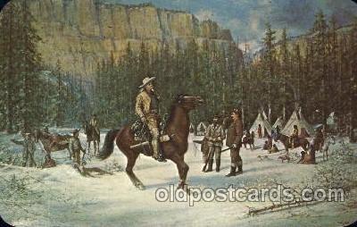 cir005191 - Memorial Museum Circus, Buffalo Bill's Wild West Postcard Post Card