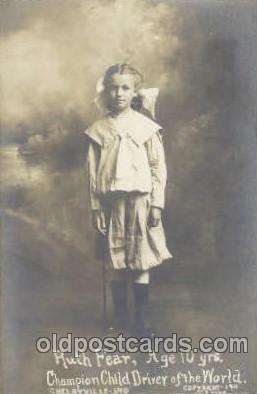 cir006112 - Circus Postcard Post Card Ruth Fear Champion Child Driver