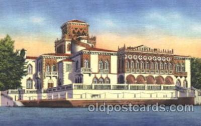 cir006186 - John Ringling Mansion, Sarasota, Florida Circus Postcard Post Card