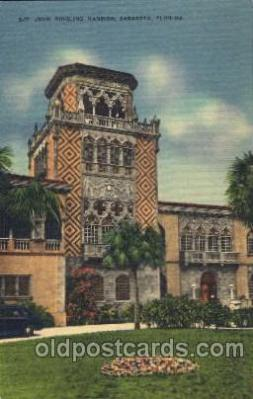 John Ringling Mansion, Sarasota, Florida USA