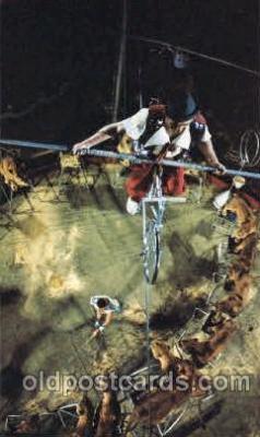 cir006213 - Highwire Hi-Jinks Circus Postcard Post Card