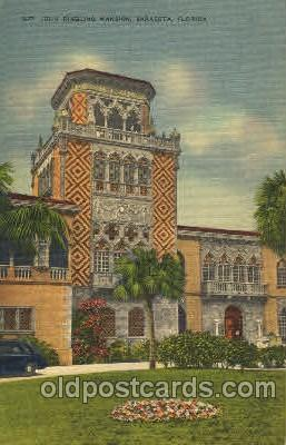 cir006214 - John Ringling Mansion, Sarasota, Florida USA Circus Postcard Post Card