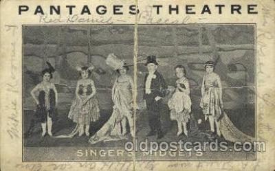 cir006245 - Pantages Theaters Singer's Midgets, Circus Oddities Postcard Post Card