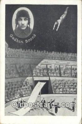 cir006249 - Gadbin Brons Circus Postcard Post Card Old Vintage Antique