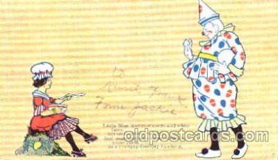 cir007040 - Circus Clown, Clowns, Postcard Post Card