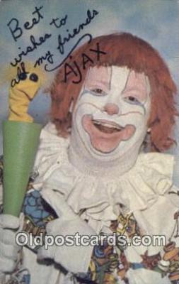 cir007088 - Ajax, The Magic Clown Circus Postcard Post Card Old Vintage Antique